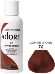 Bruine Adore Shining Semi Permanent Hair Color  Adore 76 Copper Brown  Haaverf