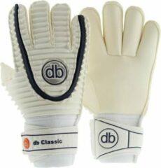 Witte DE Ballenzaak Keepershandschoenen db Classic Rollfinger