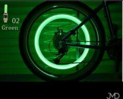Jumada Spaakverlichting - Wielverlichting - LED-spaaklicht - Fietslamp - Kinderfiets - Set van 2 - Groen