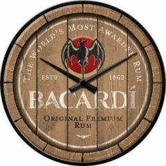 Nostalgic Art Merchandising Bacardi - Wood Barrel Logo.Wandklok 31 cm