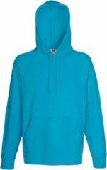Azuurblauwe Fruit Of The Loom Heren Lichtgewicht Sweatshirt Met Capuchon / Hoodie (240 GSM) (Azure Blauw)