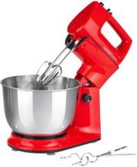 Küchenmaschine mit abnehmbarem Handmixer GOURMETmaxx rot