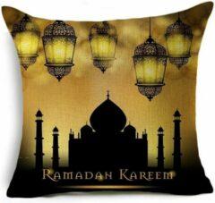 Bruine Allround Boutique Ramadan en Eid-decoraties voor huis Kussenhoes 45x45 cm