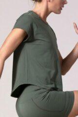Groene REVIVE Sportswear REVIVE Seamless Sport - Yoga Shirt FAFE - licht gewicht - duurzaam