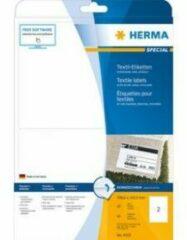 Herma 4519 Etiketten (A4) 199.6 x 143.5 mm Acetaatzijde Wit 40 stuks Weer verwijderbaar Naametiketten