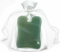 Spiru Edelstenen Guasha Massage Schraper Aventurijn Groen Rechthoek