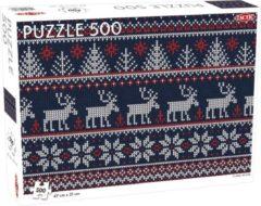 Blauwe Tactic Puzzel Lover's Special: Scandinavian pattern - 500 stukjes