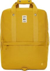 Lefrik Daily Laptop Rugzak - Eco Friendly - Recycled Materiaal - 15 inch - Oker Geel