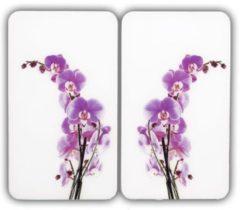 Wenko Herdabdeckplatte Universal Orchideenblüte 2er Set, für alle Herdarten