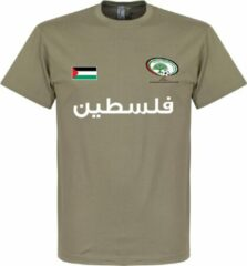 Kaki Retake Palestina Football T-Shirt - Khaki - XL