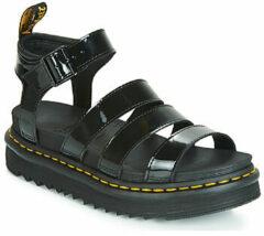 Zwarte Dr. Martens Women's Blaire Patent Lamper Strappy Sandals - Black - UK 8 - Black