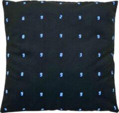 Decolenti   Analog Numbers Sierkussenhoes   Zwart   Wit   Blauw   Wasbaar   Decoratie   45cm x 45cm