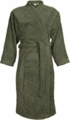 Classic Collection I2T Badjas badstof zonder Capuchon - Olijf groen - S/M - 340 gr/m²