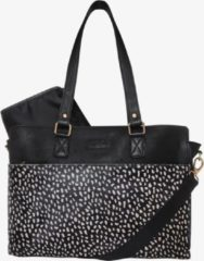 Zwarte Mozz Bags MOZZ Luiertas Wild Ones Savanna Goud - Dots Reverse