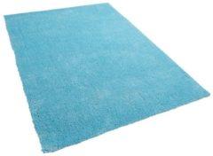 Blauwe Beliani Demre Vloerkleed Polyester 140 X 200 Cm
