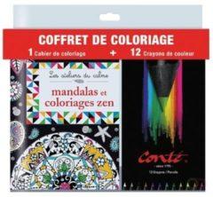 Conté Hachette kleurpotloden, counterdisplay van 24 stuks