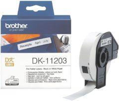 Brother Etiketten (rol) 17 x 87 mm Papier Wit 300 stuks Permanent DK11203 DK-11203 Etiketten voor ordnerinhoudsopgaves