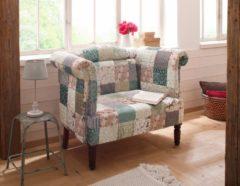 Home affaire kleines Sofa »Enna«, mit Patchwork-Bezug, jedes Stück ist ein Unikat