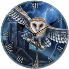 Zwarte Puckator Klok Uil in vlucht Lisa Parker - heart of the storm owl
