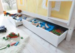 Ticaa Schubkasten 2er-Set für Etagenbetten, Kiefer Weiß