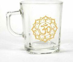 Goudkleurige Yogi & Yogini Theeglas Ohm (245 ml)