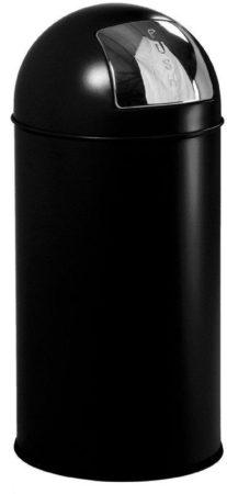 Afbeelding van VAR Afvalbak met pushdeksel Push Can 40 l 34 x 74 cm Zwart Stuks