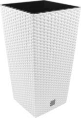 Merkloos / Sans marque Bloempot Bloembak Rato Square 29x29x55cm WIT Prosperplast