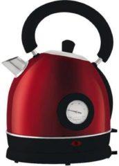 Moa Design retro waterkoker met thermoklok rood MOADKRT 1.7 Liter