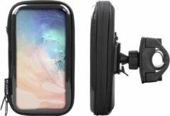 Interphone - Samsung Galaxy S10 Motorhouder Unicase Telefoonhouder Fiets en Motor Stuur Zwart