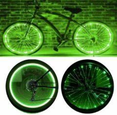 CM Lifestyle Wielverlichting - Set van 2 - LED verlichting fiets - Spaak verlichting wiel -Fietsverlichting - Groen licht - Fietswiel verlichting kinderen - Zichtbaarheid - Spaak verlichting LED - Spaakwiel LED verlichting - Fietslicht - Lichtsnoer