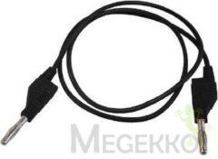Velleman Meetsnoeren (spuitgegoten Banaanpluggen 4mm) / Zwart