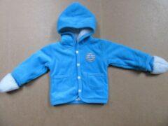 Dirkje Baby jasje , gilet met kap + wantjes , blauw 3 maand 62