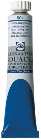 Afbeelding van Talens plakkaatverf Extra Fijn tube van 20 ml, lichtblauw (cyaan)