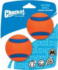 Chuckit Ultra Ball Oranje&Blauw - Hondenspeelgoed - 2 stuks