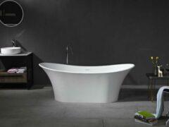 Mawialux vrijstaand bad | Solid surface | 180x80 cm | Mat wit | ML-111-VBMG-MW