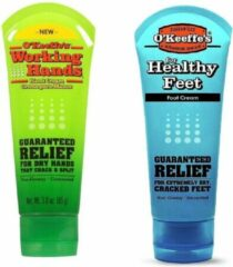 O'Keeffe's Working Hands & Healthy Feet: Hand & Foot Cream tube Set - Twin Pack