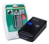 DIGITUS DA-73300 - USB-Umschalter für die gemeinsame Nutzung von Peripheriegeräten - 2 Anschlüsse