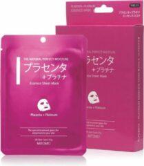 Witte Mitomo Japan Mitomo™ Placenta Gezichtsmasker - Anti Aging Face Mask - Gezichtsverzorging Masker