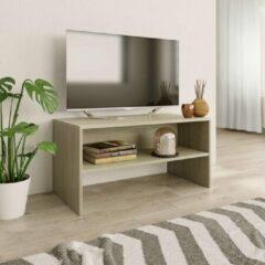 Bruine VidaXL Tv-meubel 80x40x40 cm spaanplaat sonoma eikenkleurig