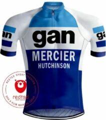 Retrowielershirts Retro Wielershirt Gan Mercier - REDTED (XL)