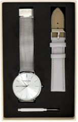 Zilveren Donna Mae cadeauset met extra horloge band