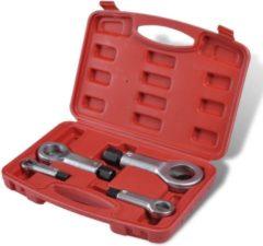 Blauwe VidaXL - Aluminiumtape Moer splijter- en verwijderingsset 210151