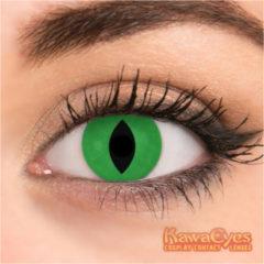 Groene Kawaeyes 1 Jaar Crazy Lens Demon Green