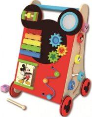 Disney Loopwagen hout met activiteiten Mickey Mouse 18+ mnd