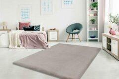 Dessa Home Garden Heaven - Vloerkleed – Vloer kleed - Tapijt – Karpet - Hoogpolig – Super zacht - Fluffy – Shiny - Silk look - 80x150 - Taupe