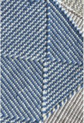 Claire Gaudion - Zala Denim Vloerkleed - 170x240 cm - Rechthoekig - Buiten, Laagpolig Tapijt - Modern - Blauw, Grijs