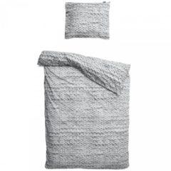 Grijze Twirre dekbedovertrek Snurk grijs-2-persoons 200 x 220 cm incl. 2 kussenslopen 60 x 70 cm