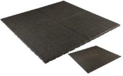 Woodvision Rubbertegel | 100 x 100 x 2,5 cm | Zwart