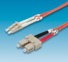 Value ROLINE FO cable 62.5/125µm, LC/SC, Orange, 1m 1m LC SC Oranje Glasvezel kabel