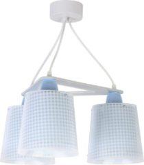 Dalber hanglampen Vichy 3 stuks 39 cm blauw